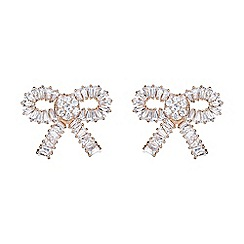 Mikey London - Rose gold large cubic bow stud earring