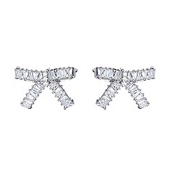 Mikey London - White medium cubic bow stud earring
