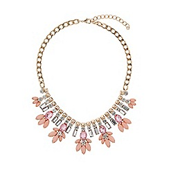 Mikey London - Crystal enamel flower hanging necklace