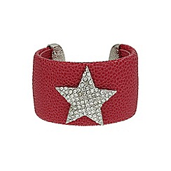 Mikey London - Pink star on leather cuff