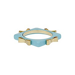 Mikey London - Blue square bangle with metal bow