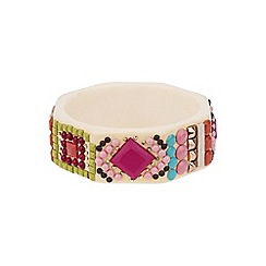Mikey London - Pink multi coloured stone bracelet
