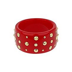 Mikey London - Red round bracelet with cones