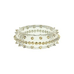 Mikey London - White spike bangle