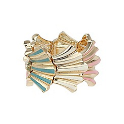 Mikey London - Pink elastic shell design bracelet
