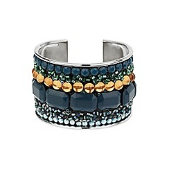 Mikey London - Green multi stone cuff bracele