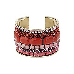 Mikey London - Red multi stone cuff bracelet