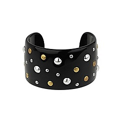 Mikey London - Black metal stud bracelet