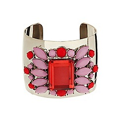 Mikey London - Pink enamel fillagary cuff