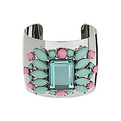 Mikey London - Turquoise enamel fillagary cuff