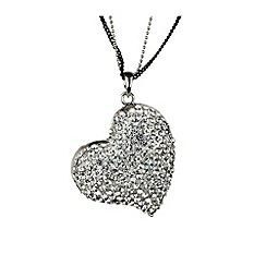 Mikey London - White heart necklace