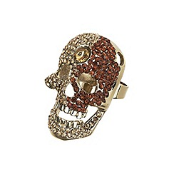 Mikey London - Gold large skull ring