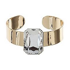 Mikey London - Flat cuff plate stone bracelet