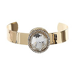 Mikey London - Raised oval stone on cuff bangle