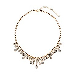 Mikey London - Box chain spike crystal drops necklace