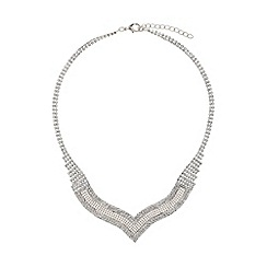 Mikey London - Mesh crystal pendant linked necklace