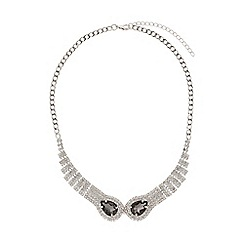 Mikey London - Twin snake head linked crystal necklace