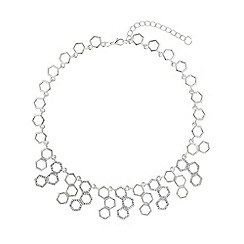 Mikey London - Hexagon design links crystal necklace