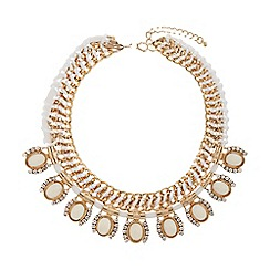 Mikey London - Eclipse crystal drops rope metal necklace