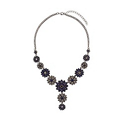 Mikey London - Crystal flowers linked necklace