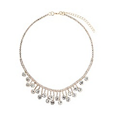 Mikey London - Gold drop crystal linked crystals necklace