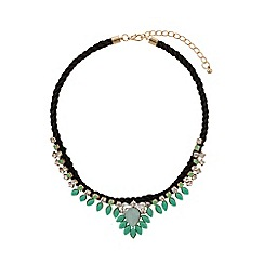 Mikey London - Hanging crystal filigree rope necklace
