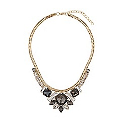 Mikey London - Red indian pendant flat rope chain necklace
