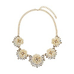Mikey London - Multi enamel flower linked necklace