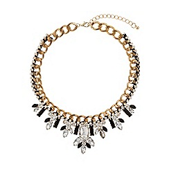 Mikey London - Filigree crystal chain necklace