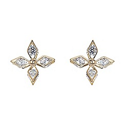 Mikey London - Gold quad leaf cubic stud