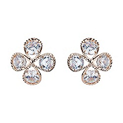 Mikey London - Rose gold dome shaped cubic stud earring