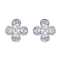 Mikey London - White dome shaped cubic stud earring
