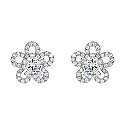 Mikey London - White petal design centre cubic stud