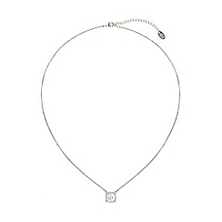 Mikey London - White square cubic centre stone necklace