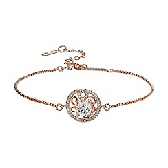 Mikey London - Rose gold filligree circle cubic chain bracelet