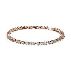 Mikey London - Rose gold mini flower cubic linked bracelet