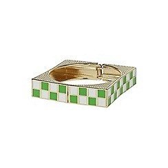 Mikey London - Green square design bracelet