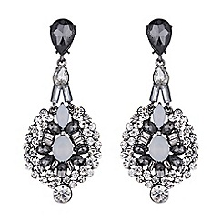 Mikey London - Filigree hanging crystal earring