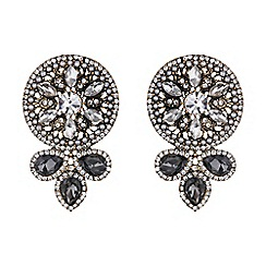 Mikey London - Filigree design round crystal earring
