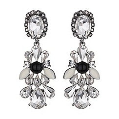 Mikey London - Drop side bow crystals earring
