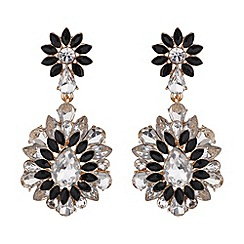 Mikey London - Drop filigree flower earring