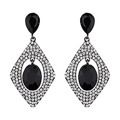 Mikey London - Diamond design hanging centre earring