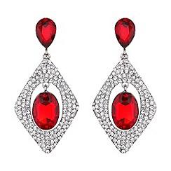 Mikey London - Diamond design hanging centre earring
