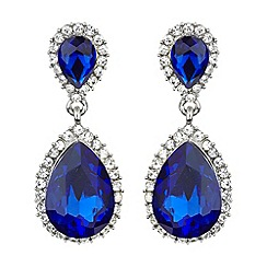 Mikey London - Twin oval stone marquise drop earring