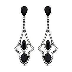 Mikey London - Diamond design curved drop earring