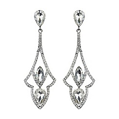 Mikey London - Diamond design curved drop earring