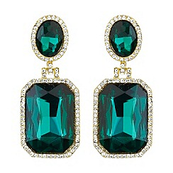 Mikey London - Rectangle stone marquise drop earring