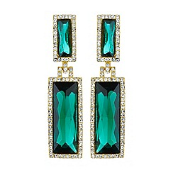 Mikey London - Twin rectangle design drop earring