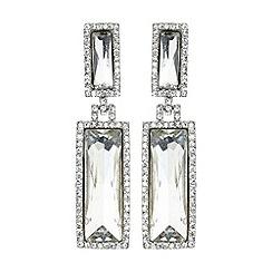 Mikey London - Twin rectangle design drop earring