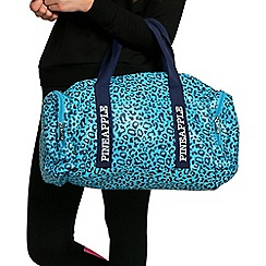 Pineapple - Blue leopard dance bag